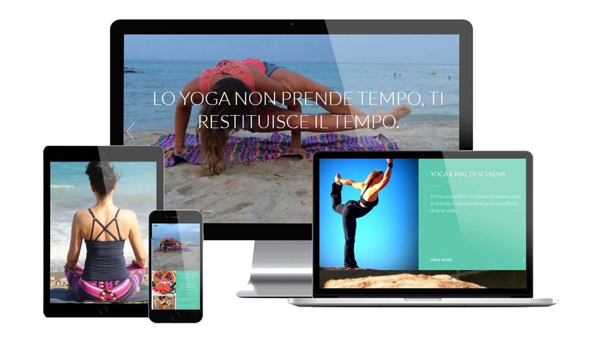 Realizzazione sito web corsi yoga